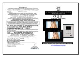 PDF használati utasítás letöltés - GLOBAL Export