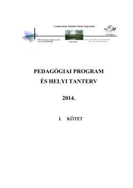 Intézményi Pedagógiai Program