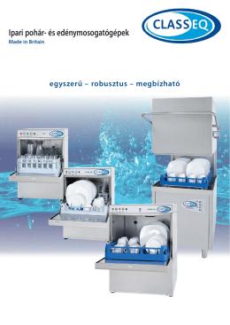 Ipari pohár- és edénymosogatógépek