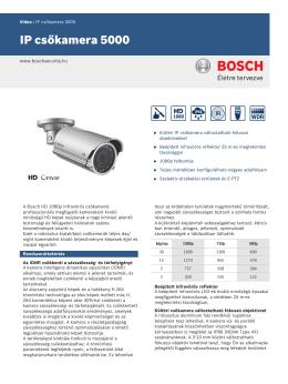 IP csőkamera 5000 - SERVINTERN | Biztonságtechnikai Kft.