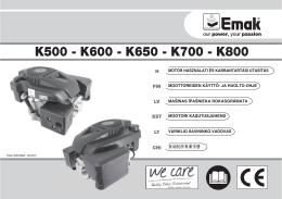 K500 - K600 - K650 - K700 - K800 - Oleo-Mac