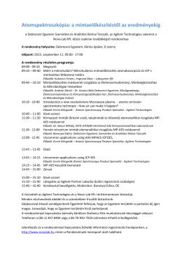 Atomspektroszkópia szeminárium program 1 - Novo