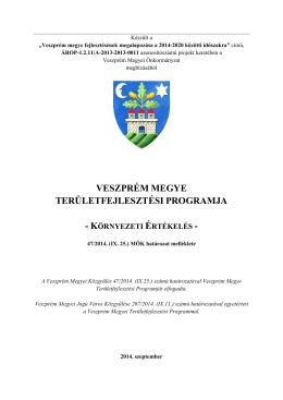 Veszprém Megye Területfejlesztési Programja Környezeti értékelés