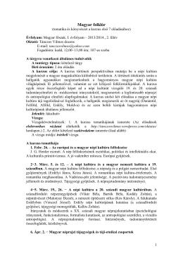 Magyar folklór - Tánczos Vilmos