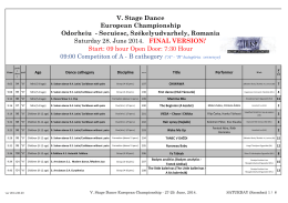 V. Stage Dance European Championship Odorheiu