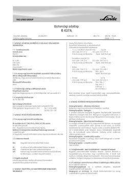 R 437A - Linde Gáz Magyarország Zrt.