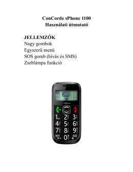 ConCorde sPhone 1100 - Felhasználói kézikönyv