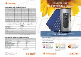 SONNENKRAFT COMFORT E fűtési rendszer