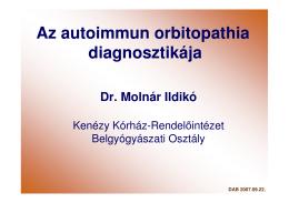 Az autoimmun orbitopathia diagnosztikája