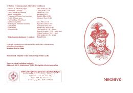 MEGHÍVÓ - Bethlen Gábor Református Gimnázium és Szathmáry
