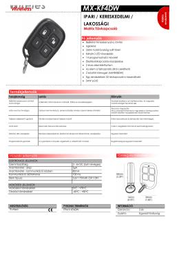 MX-KF4DW HU.pdf - Multi Alarm Zrt.