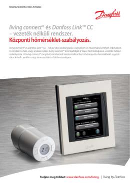 living connect® és Danfoss Link™ CC – vezeték nélküli