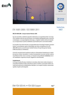 EN 16001:2009 / ISO 50001:2011 1417