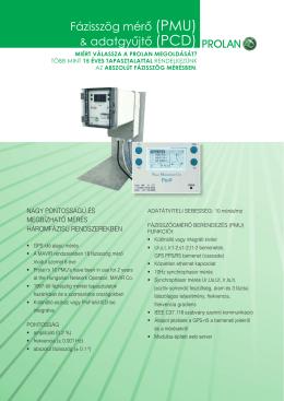 & adatgyűjtő (PCD) Fázisszög mérő (PMU)