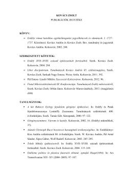 Publikációk jegyzéke