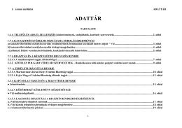 1. melléklet – Adattár 05.24.