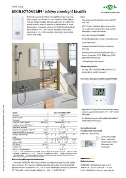 DEX ELECTRONIC MPS® átfolyós vízmelegítő készülék