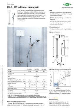 M 4..7 / BGS elektromos zuhany szett