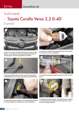 Izzócsere – Toyota Corolla Verso 2.2 D-4D