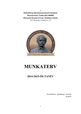 Munkaterv 2014-2015.