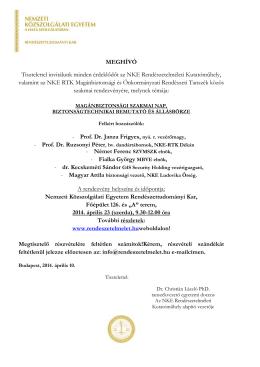 Program letöltés - Rendészetelméleti Kutatóműhely