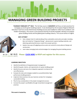 Managing Green Building Projects | February 27th