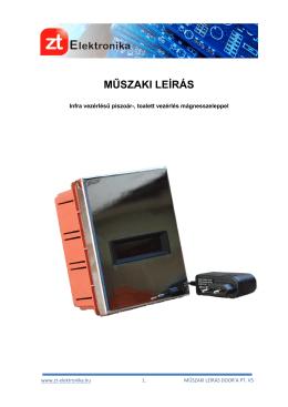 MŰSZAKI LEÍRÁS - A ZT Elektronika honlapja