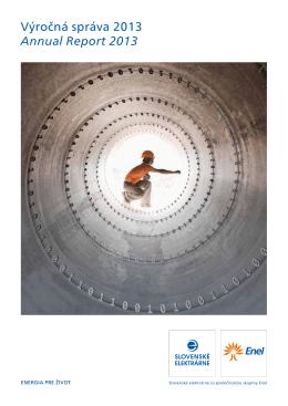 Výročná správa 2013 Annual Report 2013
