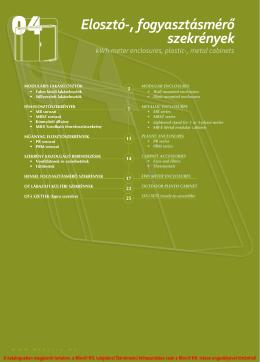 Elosztó-, fogyasztásmérő szekrények