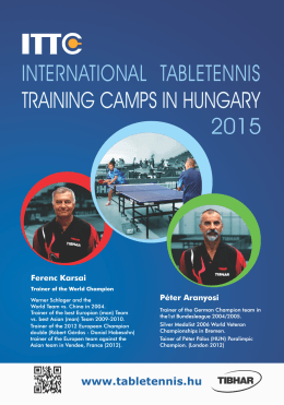 2015 international tabletennis training camps in hungary