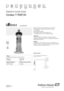 Műszaki adatlap Cerabar T PMP135 (PDF 727,0 kB) - E