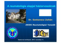 Szakvizsga felkészitő - Reumatológiai tanszék
