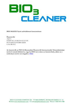 BIO3 MAXXX Nyári szélvédőmosó koncentrátum