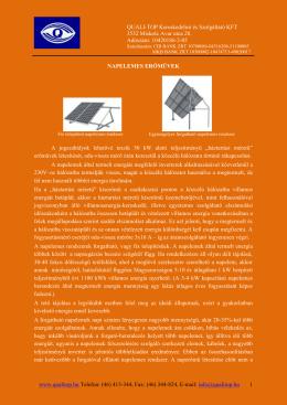 Naperőmű tájékoztató - Quali