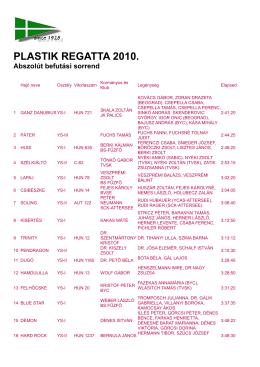 PLASTIK REGATTA 2010.