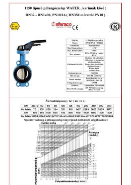 1150 típusú pillangószelep letöltése PDF formátumban
