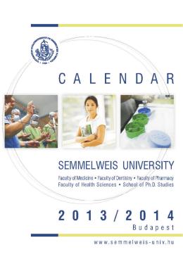 2013/14 Calendar - Semmelweis Kiadó
