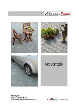 arjegyzek_20120402 1 - ABeton Viacolor Térkő Zrt.