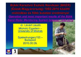 Bükki Karsztvíz Észlelő Rendszer (BKÉR) (Észak