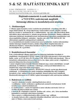S & SZ HAJTÁSTECHNIKA KFT