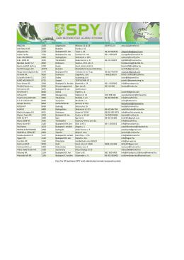 A SPY beszerelő pontok listája letölthető -> ITT - Osz-Car