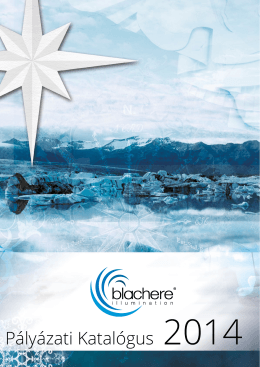 Blachere palyazati katalogus 2014