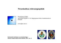 Thrombotikus mikroangiopátiák - kutlab.hu