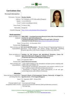CV - English: Renata Sandor