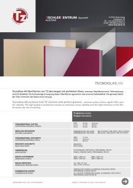 TecnoGlas HG Produktblatt