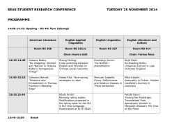 seas student research conference tuesday 25 november