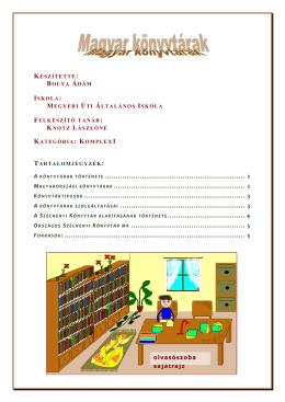 a könyvtárak története ................................................................. 2