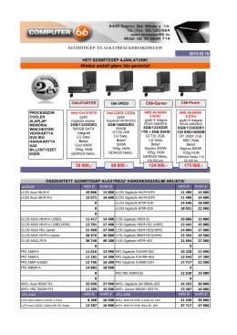 árlista - Computer 66