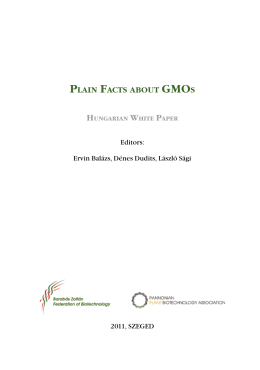 Plain facts about GMO - The Hungarian White Paper