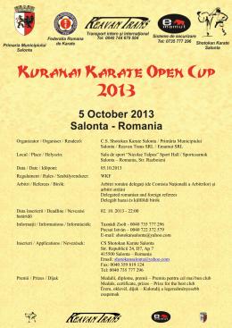 Organizator / Organiser / Rendező: C.S. Shotokan Karate Salonta